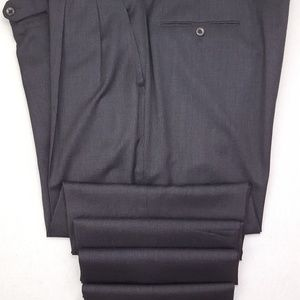 Incotex Pants 41x33 Gray Pants Trousers Pleated Cu